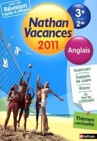 Nathan vacances 2011, de la 3e vers la 2de : anglais