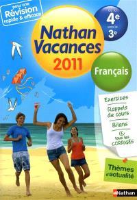 Nathan vacances 2011, de la 4e vers la 3e : français