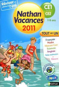 Nathan vacances 2011, du CE1 vers le CE2, 7-8 ans : tout en un