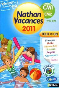 Nathan vacances 2011, du CM1 vers le CM2, 9-10 ans : tout en un