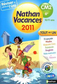Nathan vacances 2011, du CM2 vers la 6e, 10-11 ans : tout en un