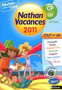 Nathan vacances 2011, du CP vers le CE1, 6-7 ans : tout en un