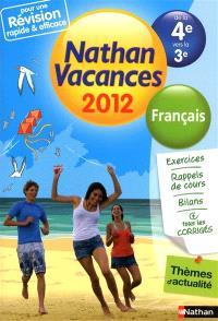 Nathan vacances 2012, de la 4e vers la 3e : français