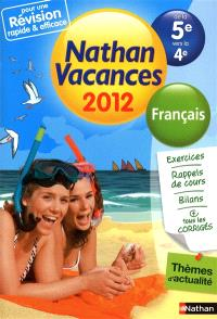 Nathan vacances 2012, de la 5e vers la 4e : français
