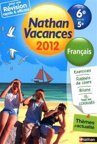 Nathan vacances 2012, de la 6e vers la 5e : français