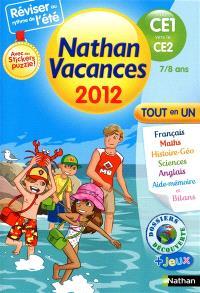 Nathan vacances 2012, du CE1 vers le CE2, 7-8 ans : tout en un