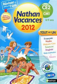 Nathan vacances 2012, du CE2 vers le CM1, 8-9 ans : tout en un