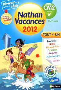 Nathan vacances 2012, du CM2 vers la 6e, 10-11 ans : tout en un
