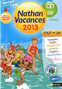 Nathan vacances 2013, du CE1 vers le CE2, 7-8 ans : tout en un