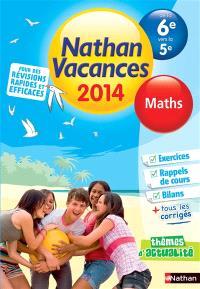 Nathan vacances 2014, de la 6e vers la 5e : maths