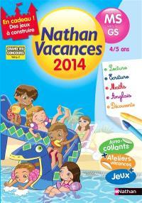 Nathan vacances 2014, de la MS vers la GS, 4-5 ans