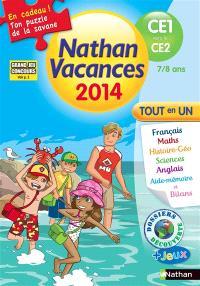 Nathan vacances 2014, du CE1 vers le CE2, 7-8 ans : tout en un