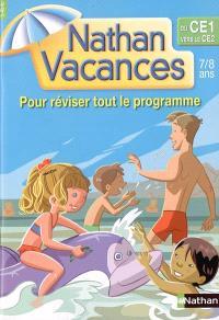 Nathan vacances du CE1 vers le CE2, 7-8 ans : pour réviser tout le programme