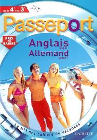 Passeport anglais langue 1, allemand langue 2, de la 4e à la 3e