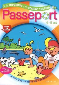 Passeport de la moyenne à la grande section, 4-5 ans