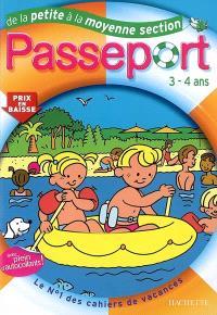Passeport de la petite à la moyenne section, 3-4 ans