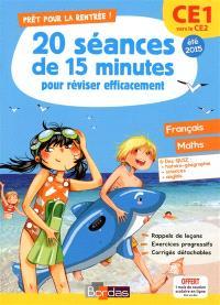Prêt pour la rentrée ! : 20 séances de 15 minutes pour réviser efficacement : CE1 vers le CE2, été 2015