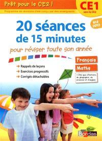 Prêt pour le CE2 ! : 20 séances de 15 minutes pour réviser toute son année : CE1 vers le CE2, été 2012