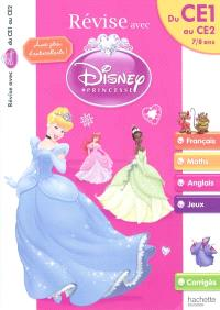 Révise avec Disney Princesse : du CE1 au CE2, 7-8 ans : français, maths, anglais, jeux, corrigés