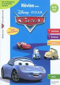 Révise avec Disney-Pixar Cars : de la moyenne à la grande section, 4-5 ans : lecture, écriture, maths, jeux