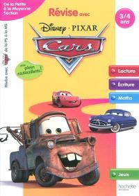 Révise avec Disney-Pixar Cars : de la petite à la moyenne section, 3-4 ans : lecture, écriture, maths, jeux