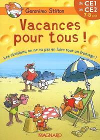 Vacances pour tous !, du CE1 au CE2, 7-8 ans : les révisions, on ne va pas en faire tout un fromage !