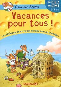 Vacances pour tous !, du CE2 au CM1, 8-9 ans : les révisions, on ne va pas en faire tout un fromage !