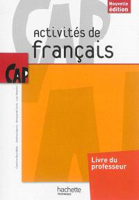 Activités de français, CAP : livre du professeur