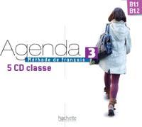 Agenda, B1.1-B1.2, méthode de français : 5 CD classe