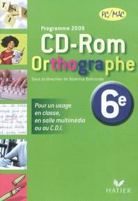 CD-ROM Orthographe 6e : programme 2009