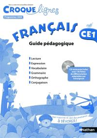 Croque-lignes, français CE1 : guide pédagogique : programmes 2008