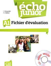 Echo junior A1 : méthode de français : fichier d'évaluation