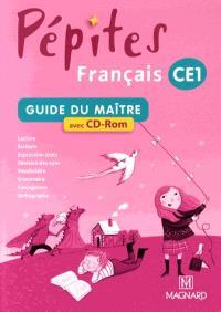 Français, livre unique CE1 : guide du maître avec CD-ROM