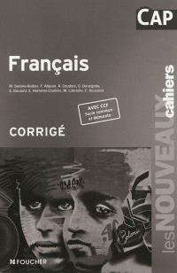 Français CAP : corrigé