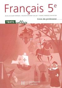 Français 5e : livre du professeur
