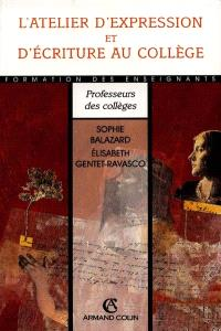 L'atelier d'expression et d'écriture au collège