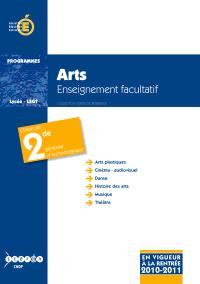 Arts : classe de seconde (arts platstiques, cinéma-audiovisuel, danse, histoire des arts, musique, théâtre)