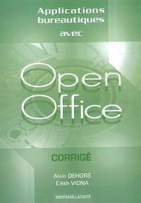 Applications bureautiques avec OpenOffice : corrigé