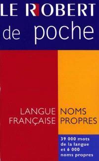 Le Robert de poche : langue française et noms propres