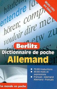 Dictionnaire de poche allemand : français-allemand, allemand-français