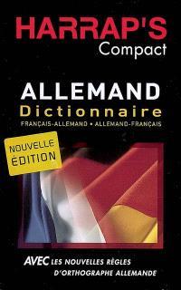 Harrap's compact allemand : dictionnaire français-allemand, allemand-français