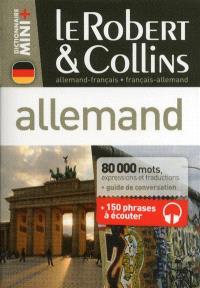 Le Robert & Collins allemand, français-allemand, allemand-français : dictionnaire, guide de conversation + 150 phrases à écouter