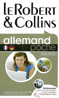 Le Robert & Collins poche allemand : français-allemand, allemand-français : dictionnaire + guide de conversation + notes culturelles + 150 phrases sur iPod