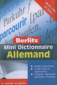 Mini dictionnaire allemand : français-allemand, allemand-français