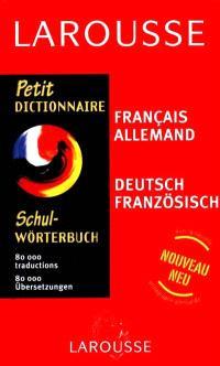 Petit dictionnaire français-allemand, allemand-français