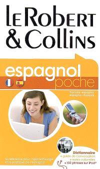 Le Robert & Collins poche espagnol : français-espagnol, espagnol-français : dictionnaire, guide de conversation, notes culturelles, 150 phrases sur iPod