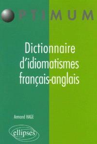 Lexique d'idiomatismes français-anglais