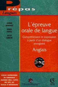 L'épreuve orale de langue : anglais