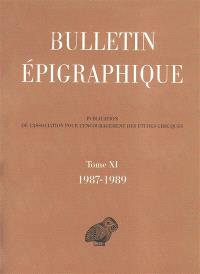 Bulletin épigraphique. Volume 11, 1987-1989