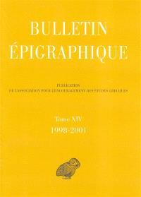 Bulletin épigraphique. Volume 14, 1998-2001